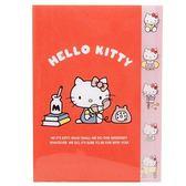 〔小禮堂〕Hello Kitty 日製L 型分類文件夾《A4 紅講電話》資料夾檔案夾L 夾4901770 58329