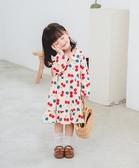 Baby童衣 女童洋裝 韓國 櫻桃圖案 秋冬長袖洋裝 88565