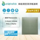 Panasonic F-P02H7、P02H6、P02L1、P02T2 空氣清淨機濾網【Original life】長效可水洗