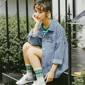 牛仔外套 女秋季2019新款韓版寬鬆百搭chic原宿bf港味風夾克上衣潮 1色S-2XL