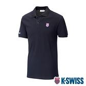 K-SWISS Vintage Polo短袖Polo衫-女-黑