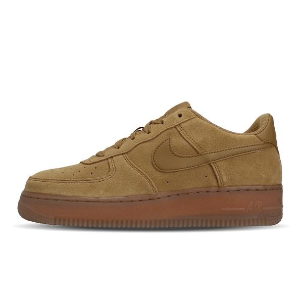 Nike 休閒鞋 Air Force 1 LV8 3 GS 咖啡 駝色 女鞋 大童鞋 麂皮 AF1 運動鞋 【ACS】 BQ5485-700
