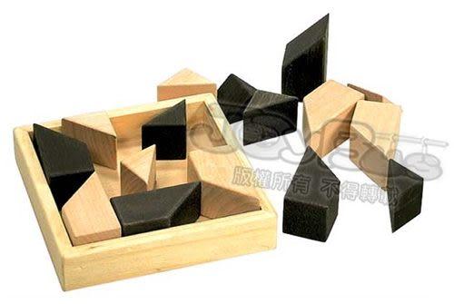 《 World-Zebra 》益智原木歡樂七巧積木盒 ╭★ JOYBUS玩具百貨