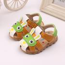 男童涼鞋 夏季新款兒童帶閃光燈寶寶鞋包頭男童1-3歲防滑兒童學步涼鞋【快速出貨八折下殺】