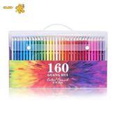 一術120色油性彩色鉛筆繪畫專業手繪160填色涂鴉初學者學生用水溶