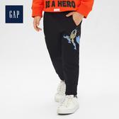 Gap男幼童Marvel復仇者聯盟系列鬆緊腰抽繩運動褲509913-純正黑