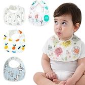 6層棉質圍兜 嬰幼兒 環保印花 防髒 男寶寶 女寶寶 Baby 60369