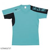 MIZUNO 男裝 女裝 短袖 排球 羽球 吸汗快乾 合身版型 珊瑚綠【運動世界】V2TA0G1737