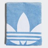 ▲adidas ORIGINALS 愛迪達 三葉草 藍色 藍白 沙灘浴巾 海灘巾 大浴巾 CD6145