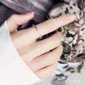 純銀開口食指戒指女日韓潮人個性閨蜜清新關節學生簡約細創意尾戒     麥吉良品