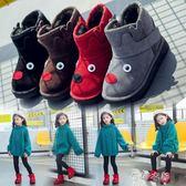 靴子 拉丁寶貝兒童卡通麋鹿雪地靴男童女童中筒保暖防水防滑靴子 蓓娜衣都