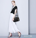 手提包 女包新款春夏潮百搭韓版女士包包時尚拼接單肩斜挎大包 快速出貨