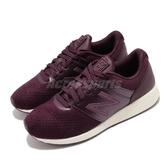 【六折特賣】New Balance 休閒鞋 24 Wide 紫 紅 女鞋 寬楦頭 復古慢跑鞋 運動鞋 【ACS】 WRL24TMD