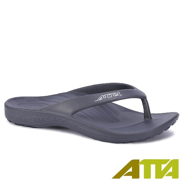 【333家居鞋館】好評回購 ATTA足底均壓 足弓簡約夾腳拖鞋-鐵灰色