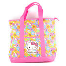 Hello Kitty側背袋 繽紛花漾粉色野餐手提側背袋/購物袋/側背包/野餐包 [喜愛屋]