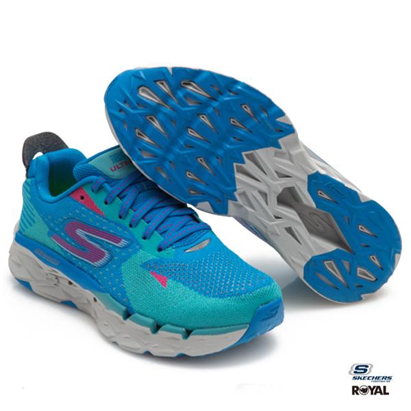 SKECHERS 新竹皇家 GO Trail Ultra 4 藍綠  網布 運動鞋 女款 NO.I8349