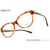 agnes b.眼鏡 原廠正品#ABP234 Y14 琥珀 (免運)