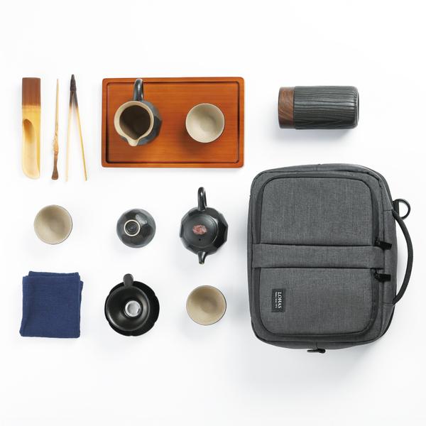 陸寶LOHAS Pottery 禪隱商務旅行組 全套茶席 完美收納 行動茶室