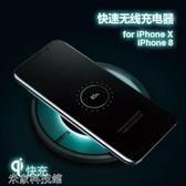 無線充電盤 iPhone X蘋果8無線充電器iPhone8Plus手機7.5W快充iPhoneX底座i8P專用iX板 【毅然空間】