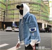 新款春秋季男士牛仔外套韓版潮流寬鬆休閒夾克秋裝男裝 卡布奇諾