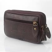 中年真皮手機包男士穿皮帶腰包錢包多功能掛包5.5寸6寸牛皮包橫款