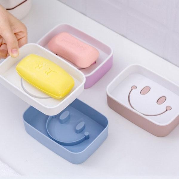 雙層瀝水肥皂架-萬用瀝水雙層肥皂架 笑臉肥皂盒【AN SHOP】