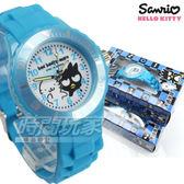 SANRIO三麗鷗 BAD BADTZ-MARU酷企鵝系列 日本機芯 童趣卡通女錶 兒童錶 水藍 S7-1036B