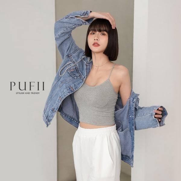 限量現貨◆PUFII-外套 男孩風車線牛仔外套(帽可拆)- 0422 現+預 春【CP20185】