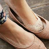 ☆ 莎lala【E808-0021】韓系隱形蕾絲襪-矽膠腳底防滑純棉襪子(SIZE約:34-40碼)