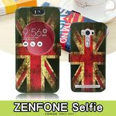 E68精品館 彩繪 視窗皮套 華碩 ZenFone Selfie 開窗透視 手機套保護套 可立支架短磁扣 ZD551KL