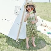 女童格子洋裝韓版純棉洋氣小清新女寶寶洋裝兒童夏裝2021新款2 幸福第一站