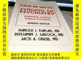 二手書博民逛書店SYNOPSIS罕見OF PSYCHIATRYY4211 出版1