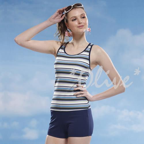 ☆小薇的店☆泳之美品牌【清新亮眼條紋】時尚二件式泳裝特價650元 NO.8321(M-XL)
