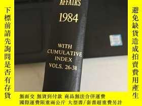二手書博民逛書店THE罕見YEAR BOOK WORLD AFFAIRS 1984 1984年世界圖書年Y247760
