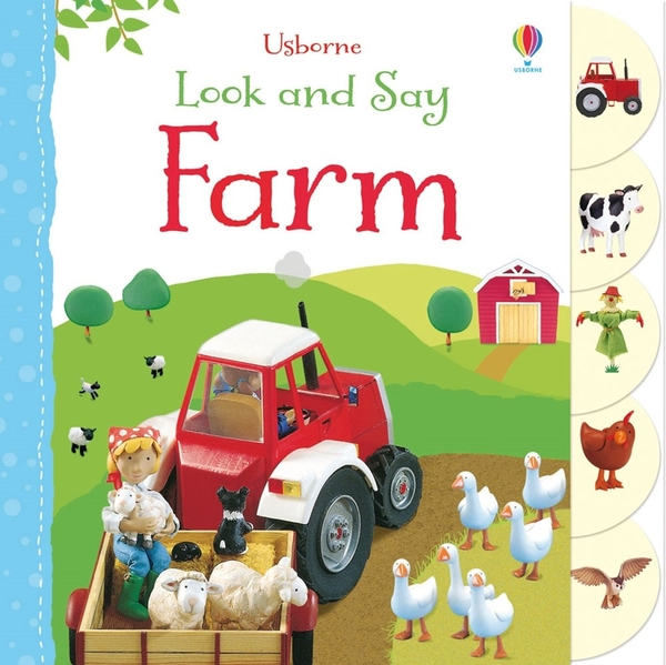 USBORNE LOOK AND SAY: FARM / 硬頁書