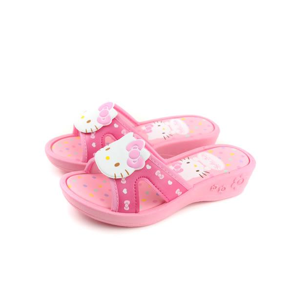 Hello Kitty 凱蒂貓 涼鞋 拖鞋 童鞋 粉紅色 中童 818124 no763
