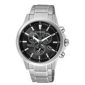 CITIZEN 星辰光動能鈦金屬計時腕錶(AT2340-81E)黑/42mm