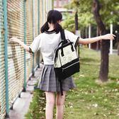 女款雙肩包書包女雙肩包2018新款高中學生電腦包韓版簡約大容量校 俏女孩