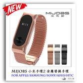 MIJOBS MI 小米手環 2 金屬 不鏽鋼 智慧手環 替換腕帶 米布斯 JY