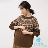 ❖ Winter ❖ 北歐風圖騰設計針織上衣 - earth music&ecology