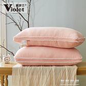 Q彈水洗護頸枕頭枕芯羽絲絨可水洗單人枕一對請拍2只 可可鞋櫃