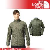 【The North Face 美國 男 防風防潑水外套/M《綠色印花》】3GEB/防潑水/外套/風衣/休閒★滿額送