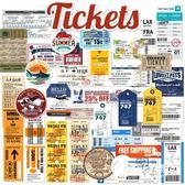 復古航空登機牌門票托運標簽箱貼旅行箱行李箱貼紙防水貼紙 30枚-奇幻樂園