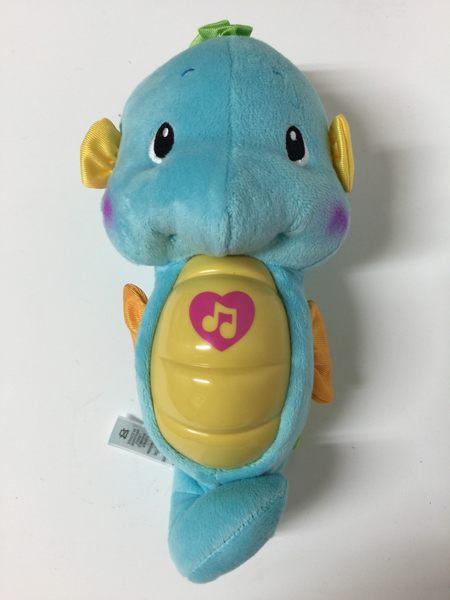 【全新無外盒】藍色 Fisher Price☆費雪小海馬 安撫海馬 聲光海馬-超級BABY