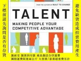 二手書博民逛書店Talent:罕見Making People Your Competitive AdvantageY41001