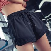 雙十二狂歡瑜伽短褲防走光運動短褲女寬鬆薄款瑜伽褲健身褲外穿熱褲速干跑步短褲夏