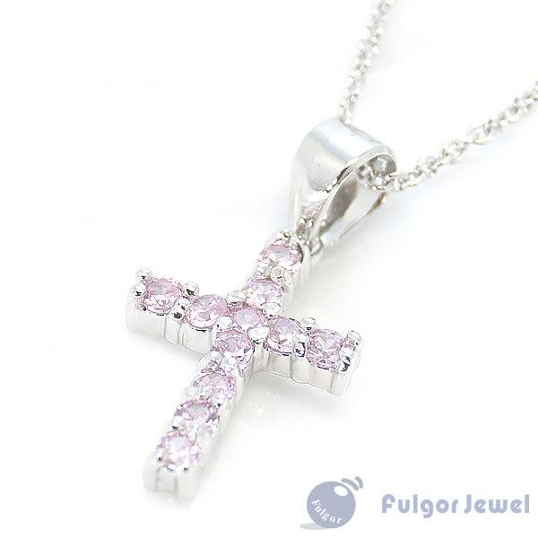 FU飾品 流行飾品 生日情人節母親節 禮物 贈品 晶亮鋯石十字架項鏈【Fulgor Jewel】