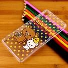 Rilakkuma 拉拉熊/懶懶熊 SONY Xperia Z2 (D6503) 彩繪透明保護軟套-點點好朋友