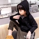 童裝男童外套秋季新款兒童運動上衣中大童洋氣連帽衫韓版潮款 晴天時尚館