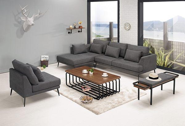 【森可家居】尼爾森L型沙發(反向) 8CM698-2 布 可拆洗